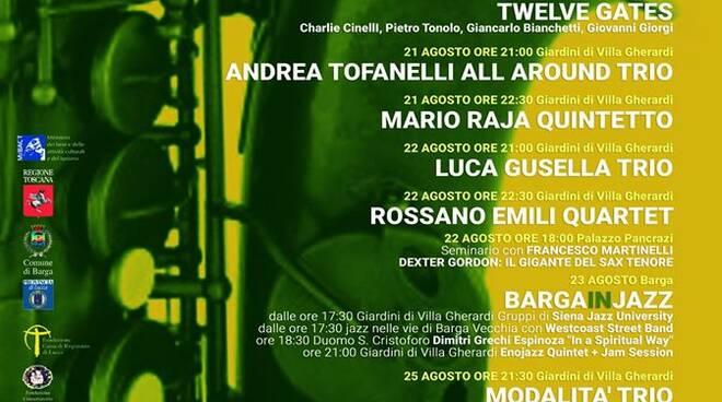 Barga Jazz Festival manifesto 2020