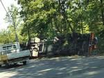 camion ribaltato le vedute fucecchio 20 luglio 2020