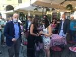 Ceccardi a Lucca per la prima volta da candidata presidente della Toscana
