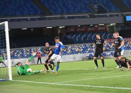 Di Lorenzo gol contro il Milan
