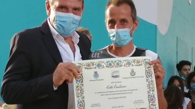 Emiliano Cetti 47 anni promosso con 100 alla maturità 2020