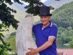 il sindaco di Vagli Mario Puglia al parco avventura