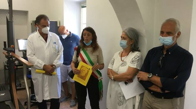 inaugurazione Barga apparecchiatura riabilitazione Maci Campani