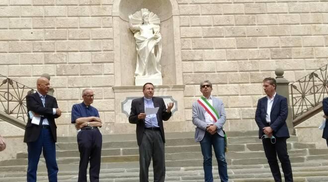 inaugurazione scalinata del santissimo crocifisso san miniato 17 luglio 2020