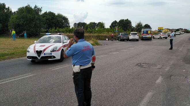 incidente altopascio via provinciale Lucchese 15 luglio 2020