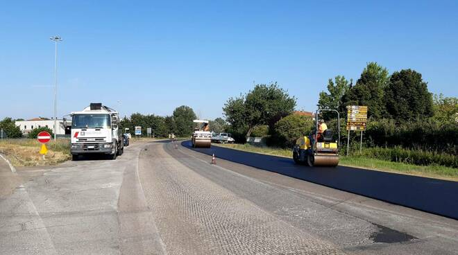 lavori in corso sulla Sp 11 - Circonvallazione di Fucecchio