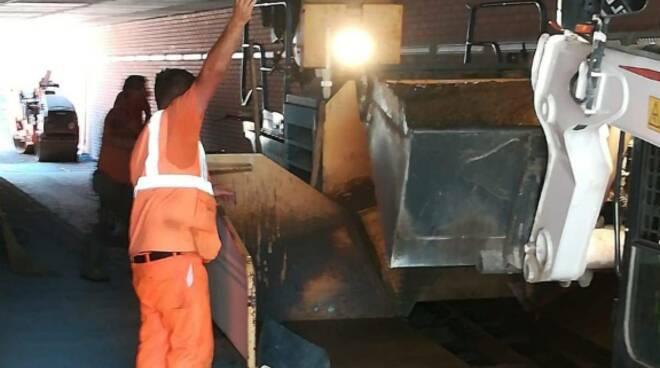 lavori sottopasso piazzale boccherini