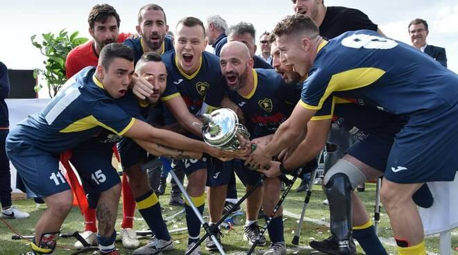 Nuova Montelabbate Calcio Amputati allenamento Bagni di Lucca