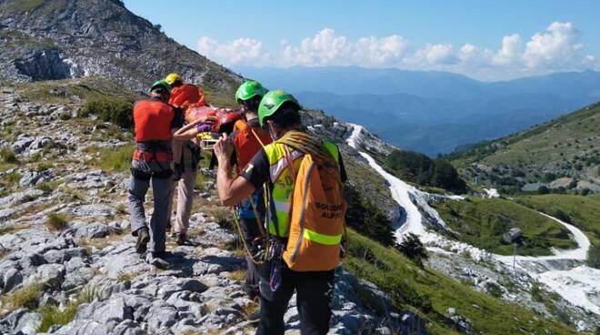 Passo dell'Alpino intervento Sast Querceta