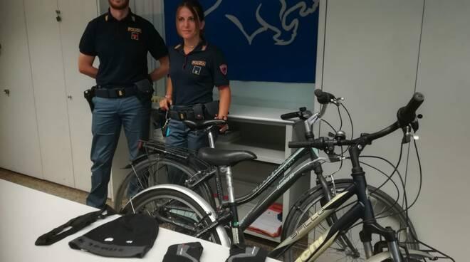 polizia furto biciclette Sant'Anna