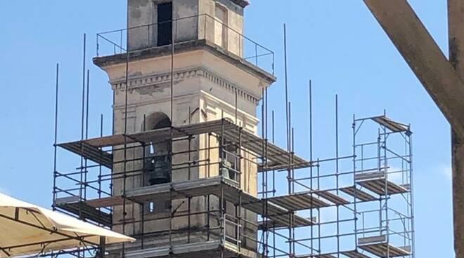 ponteggi campanile chiesa della vergine fucecchio