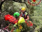 recupero escursionista sul monte serra a buti