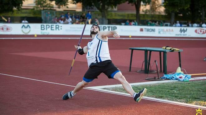 Roberto Orlando lancio del giavellotto Lucca