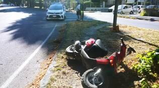 scooter contro auto sui viali