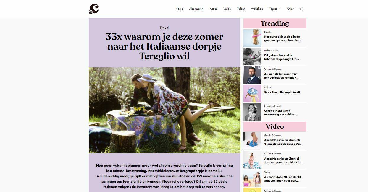 Tereglio protagonista su una rivista olandese