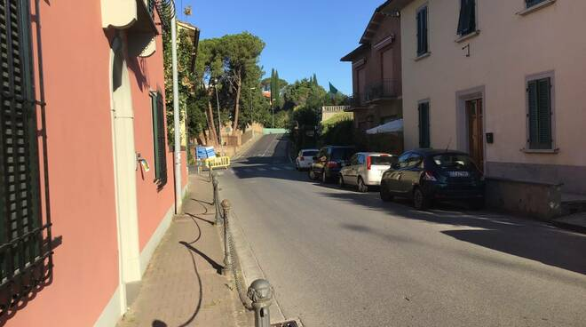 Via Roma a San Miniato