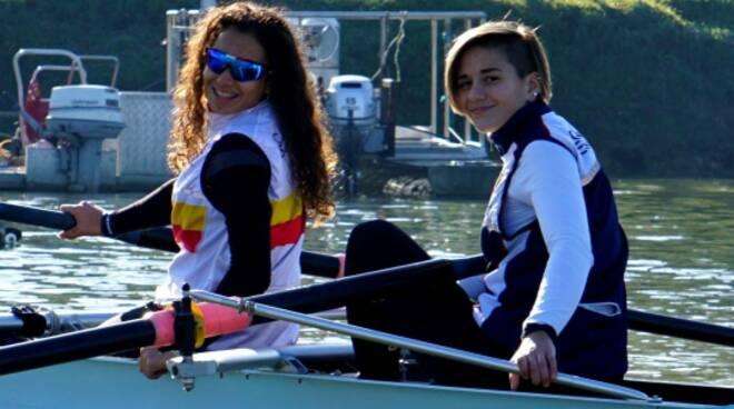 Victoria Gallucci e Chiara Benvenuti canottieri san miniato