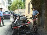 carabinieri motorini carbonizzati via Giardino Botanico