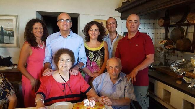 Giulio Lazzerini con la famiglia