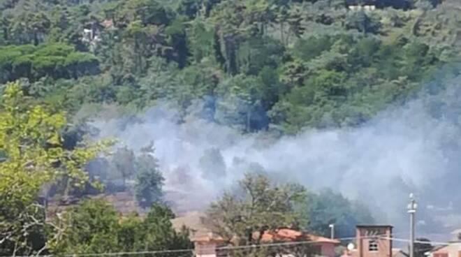 incendio a Nozzano