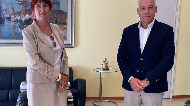 incontro sindaco questore Viareggio Alessandra Faranda Cordella Giorgio Del Ghingaro