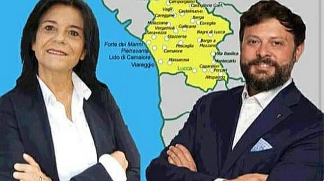 Marina Staccioli Vittorio Fantozzi candidati Fratelli d'Italia