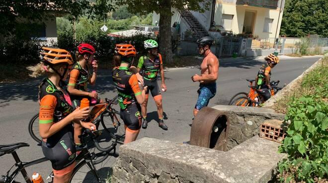 Mario Cipollini in visita al Pro Cycling Team Fanini