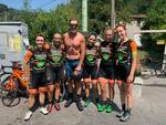 Mario Cipollini in visita al Pro Cycling Team Fanini
