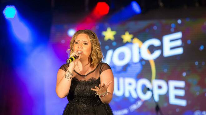 Martina Affidato vincitrice A voice for Europe 2019