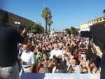 Matteo Salvini palco visita VIareggio