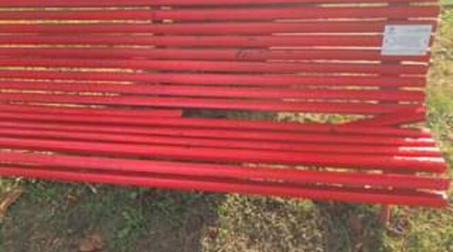 panchina rossa bagni di lucca