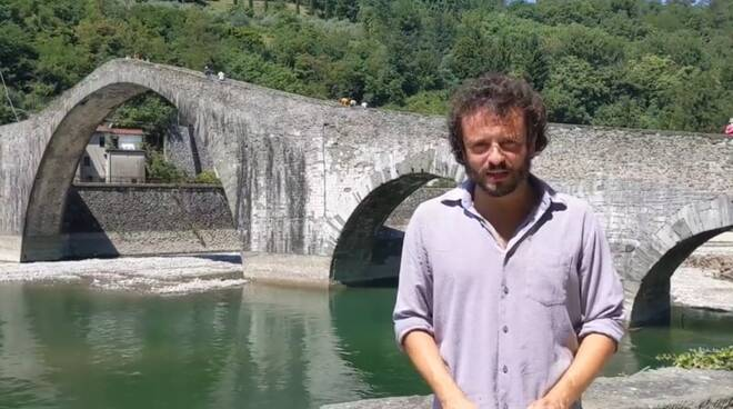 Patrizio Andreuccetti al Ponte del Diavolo restaurato