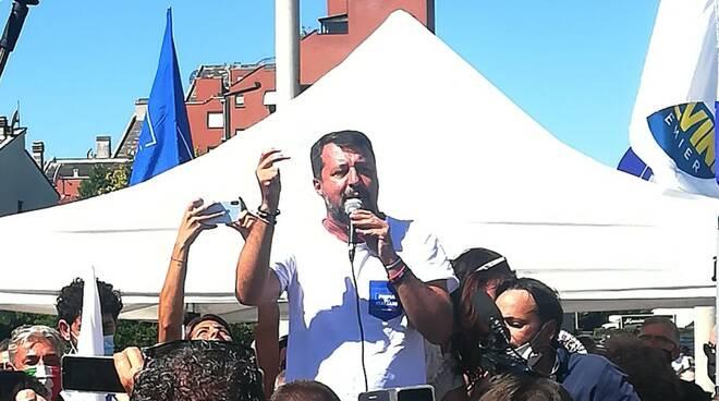 Salvini a Pontedera 21 agosto 2020