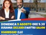 Salvini Ceccardi gazebo lega Viareggio