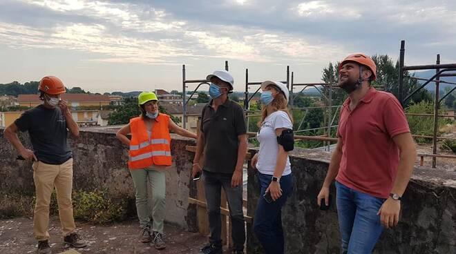 sopralluogo lavori acquedotto Nottolini Lucca