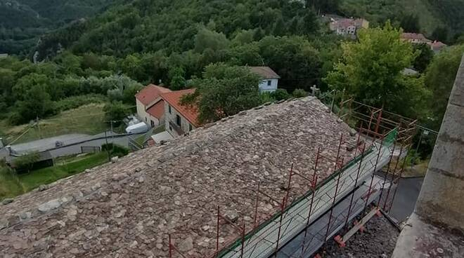 Tetto restaurato Pieve Vico Pancellorum