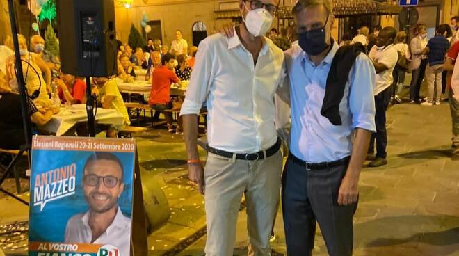 Antonio Mazzeo con Graziano Delrio