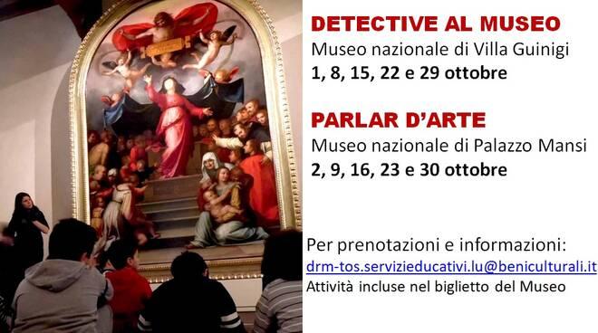 detective al museo parlar d'arte Palazzo Mansi Villa Guinigi musei nazionali di Lucca