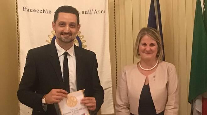 Emanuele Ottaviano Monica De Crescenzo Rotary Club Fucecchio Santa Croce sull'Arno