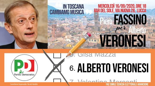 Fassino per Veronesi a Lucca