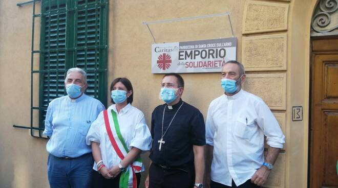 Inaugurato l'emporio solidale della Caritas a Santa Croce sull'Arno