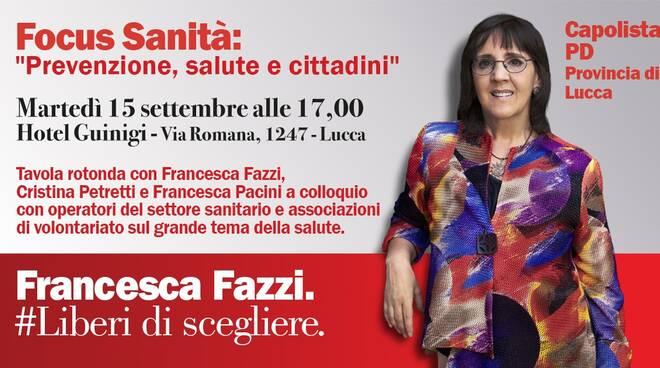 manifesto focus sanità Francesca Fazzi Pd