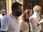 Mario Pardini Lucca Crea accompagna Salvini e Ceccardi in visita in città per un comizio