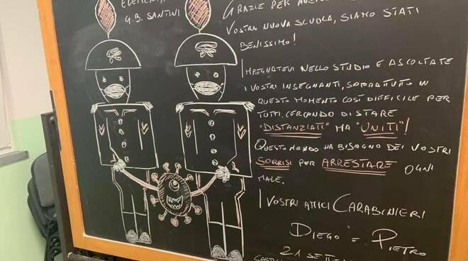 Messaggio carabinieri scuola Castiglione