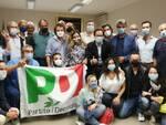 Pd festa elezione Valentina Mercanti Mario Puppa