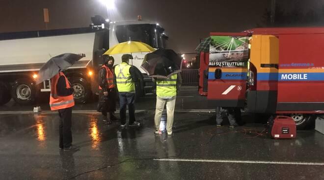 pioggia chiusura cavalcavia viale Europa