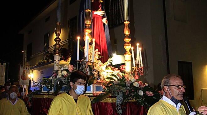processione di san pietro a vico per la patrona
