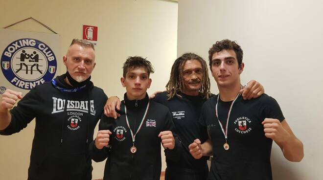 Pugilistica lucchese inizio campionati Firenze