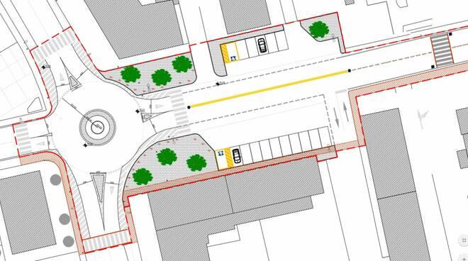 """Rotatoria dei """"grattacieli"""" e riqualificazione tra Via Francesca Nord e Via dello Stadio"""