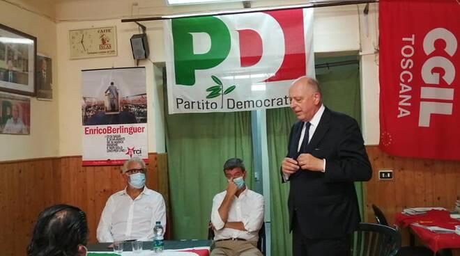 vicesegretario Pd Andrea Orlando Francesca Fazzi piazza San Francesco